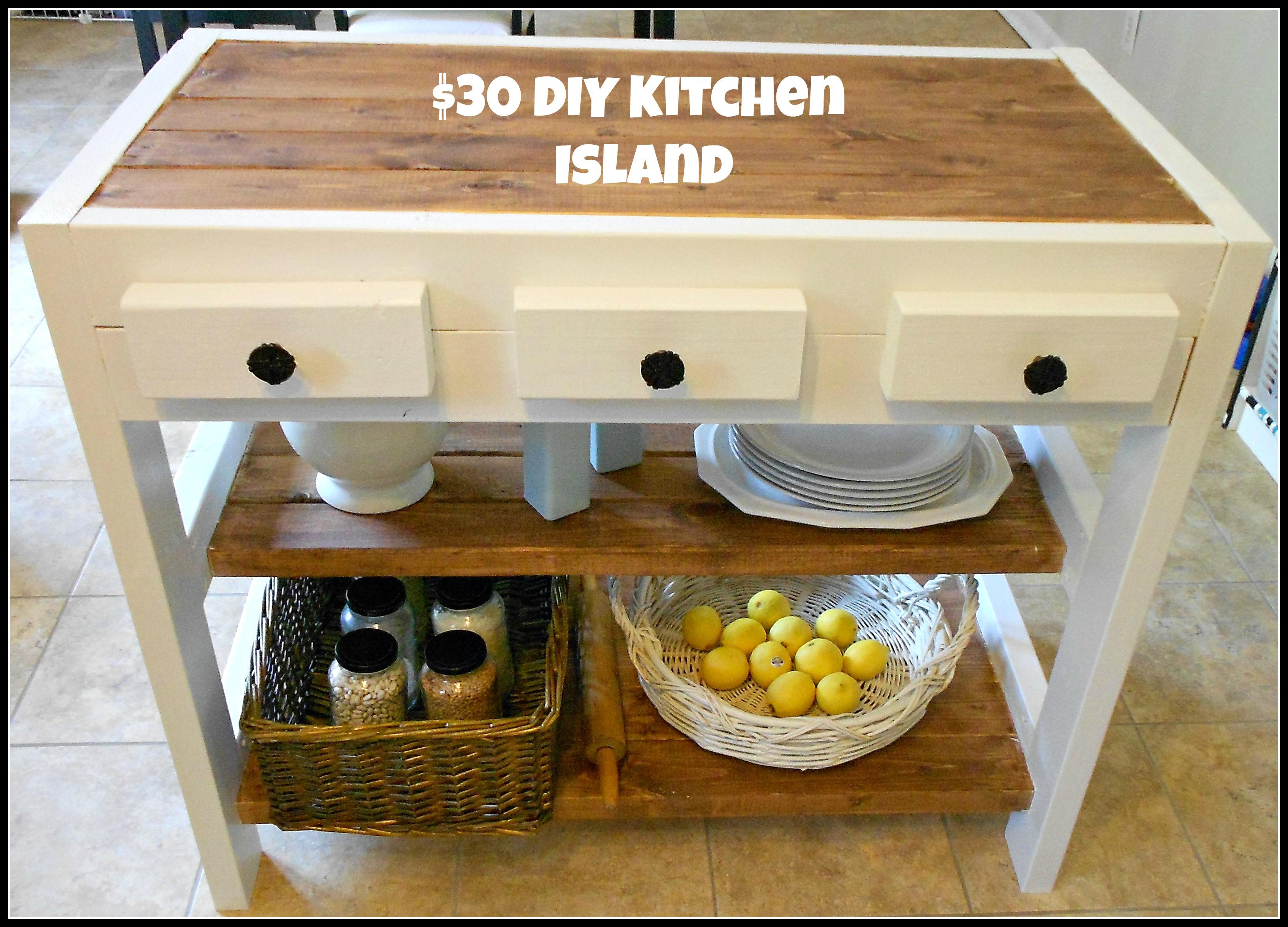 19 Beautifully Homemade Kitchen Islands