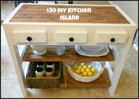 19 Beautifully Homemade Kitchen Islands