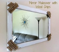 Wood Chip Mirror