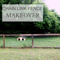 chain link fence makeover
