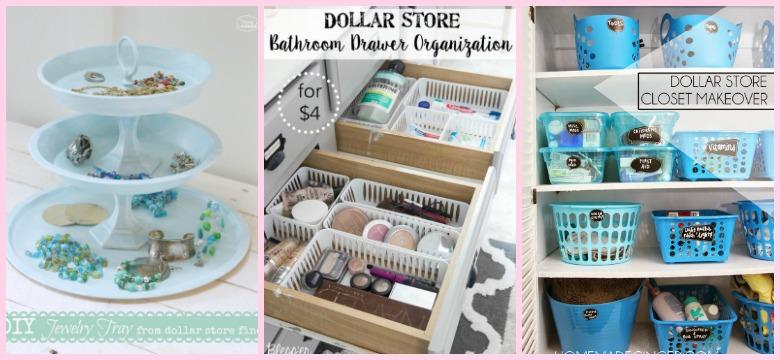 10 Dollar Store Organization Ideas That Are Border Line Genius graphic