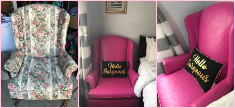 Trash To Treasure: Wingback Chair Makeover graphic