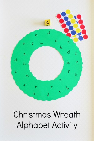 Christmas Wreath Alphabet Activity