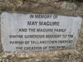 The Maguire family's donation helped fund the park.