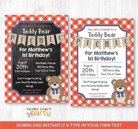 teddy bears picnic 1st birthday party