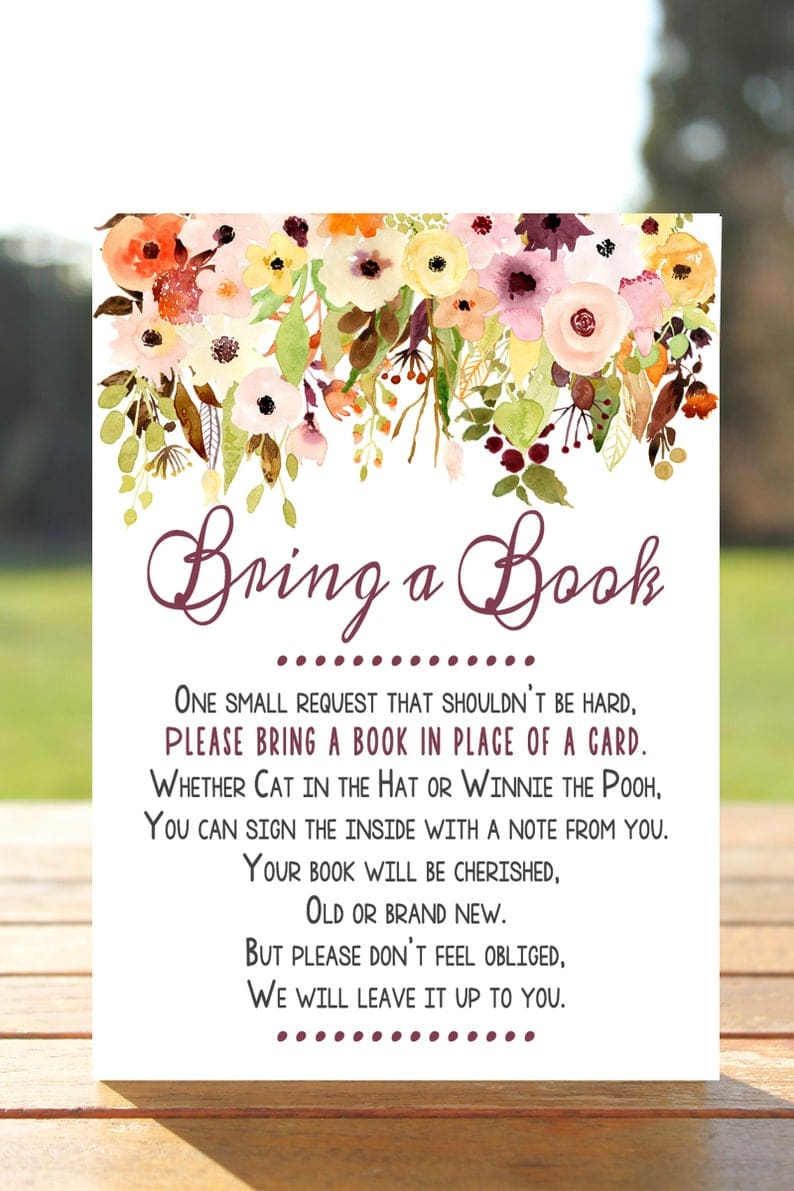 Bring Book Instead Of Card Saying : bring, instead, saying, Shower, Books, Instead, Cards, Complete, Guide