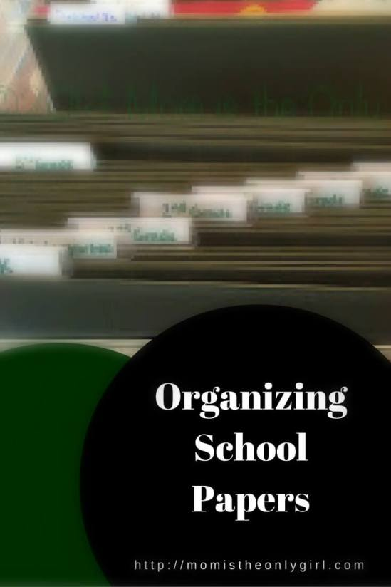 Need a way to organize school papers? See how I'm doing it! http://momistheonlygirl.com