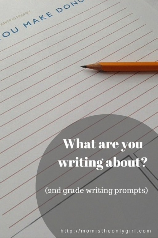 2nd grade writing prompts, both a list of prompts and printable worksheets with writing prompts found at https://momistheonlygirl.com