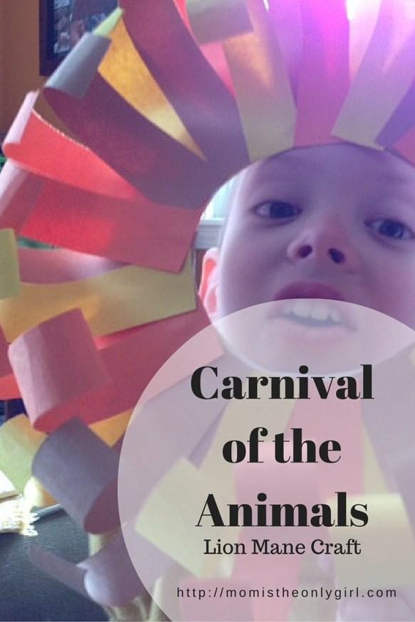 Carnival of the Animals lion's mane craft https://momistheonlygirl.com