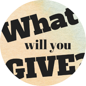 What will you give? Prompting children to give and be generous. http://momistheonlygirl.com