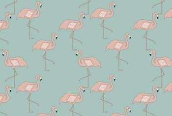 fabric flamingo