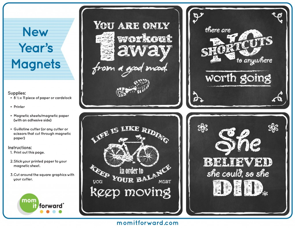 Inspirational Diy Magnets New Years Printables