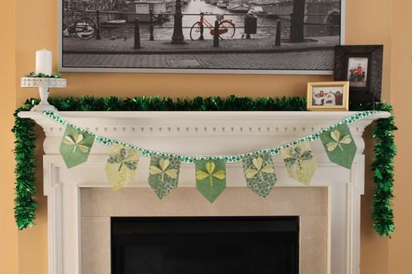 St. Patrick's Day Party Fireplace
