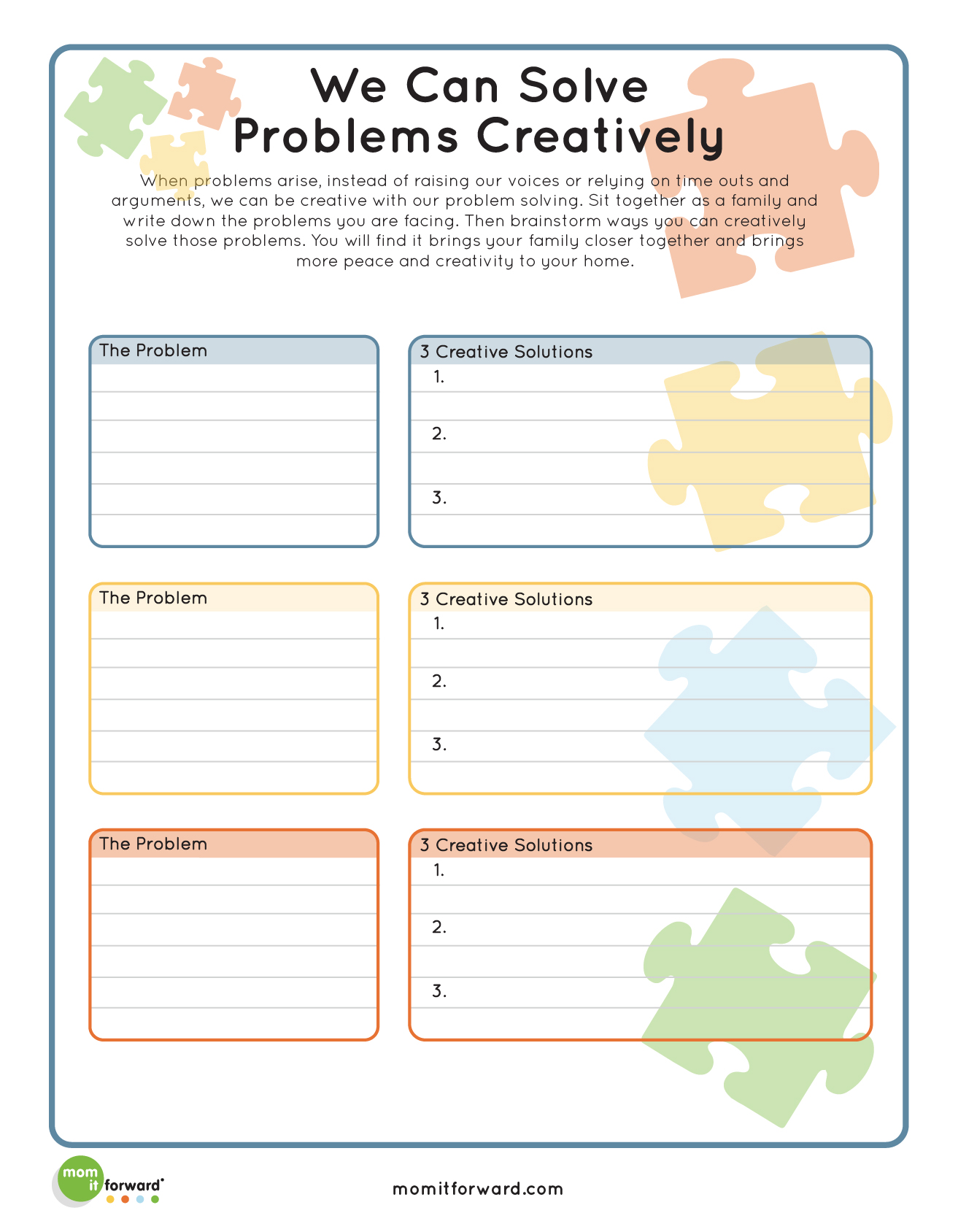 Printable Creative Problem Solving
