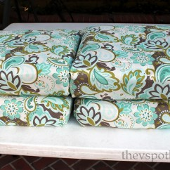Diy Outdoor Chair Cushion Covers Acrylic Dining Chairs Nz How To Recover Furniture With A Glue Gun