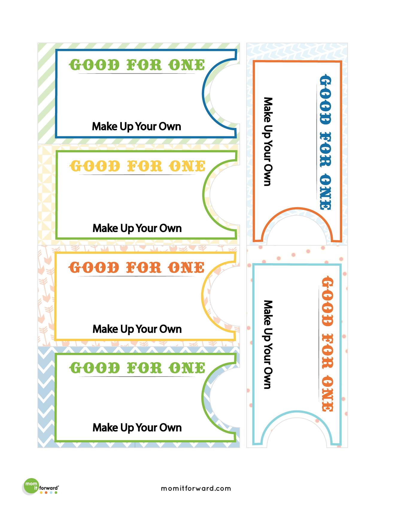 Good Deed Coupon Book Printables