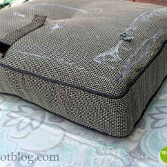 Diy Outdoor Chair Cushion Covers Antique Birthing How To Recover Furniture With A Glue Gun