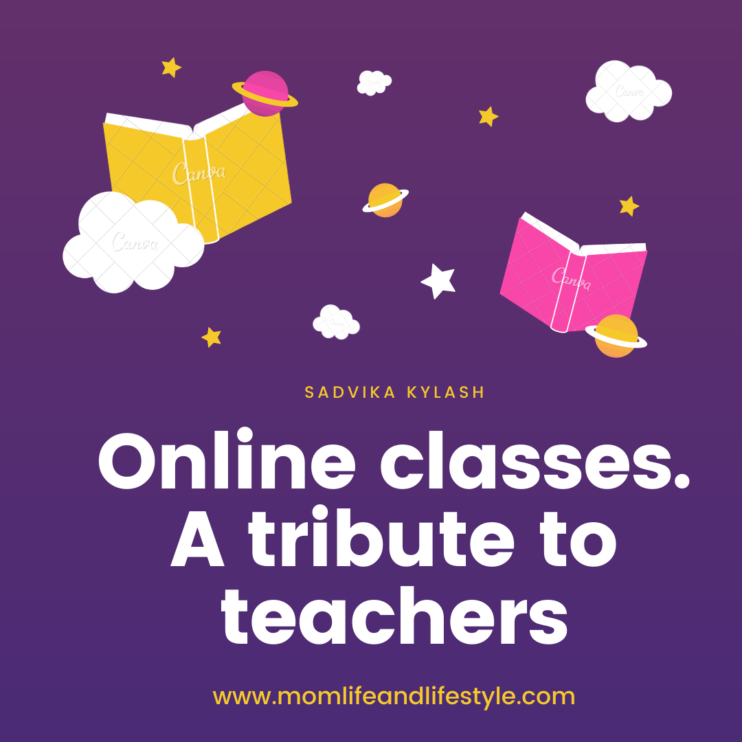 Online classes. A tribute to teachers