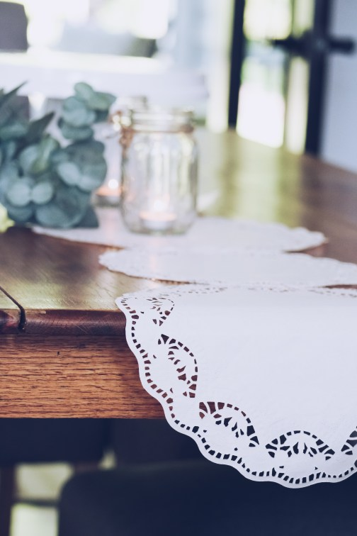 Paper Doilies Table Runner