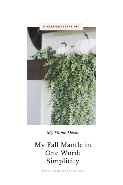 Fall mantle with hanging greenery