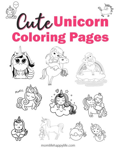 Unicorn Coloring Pages Free Online Book