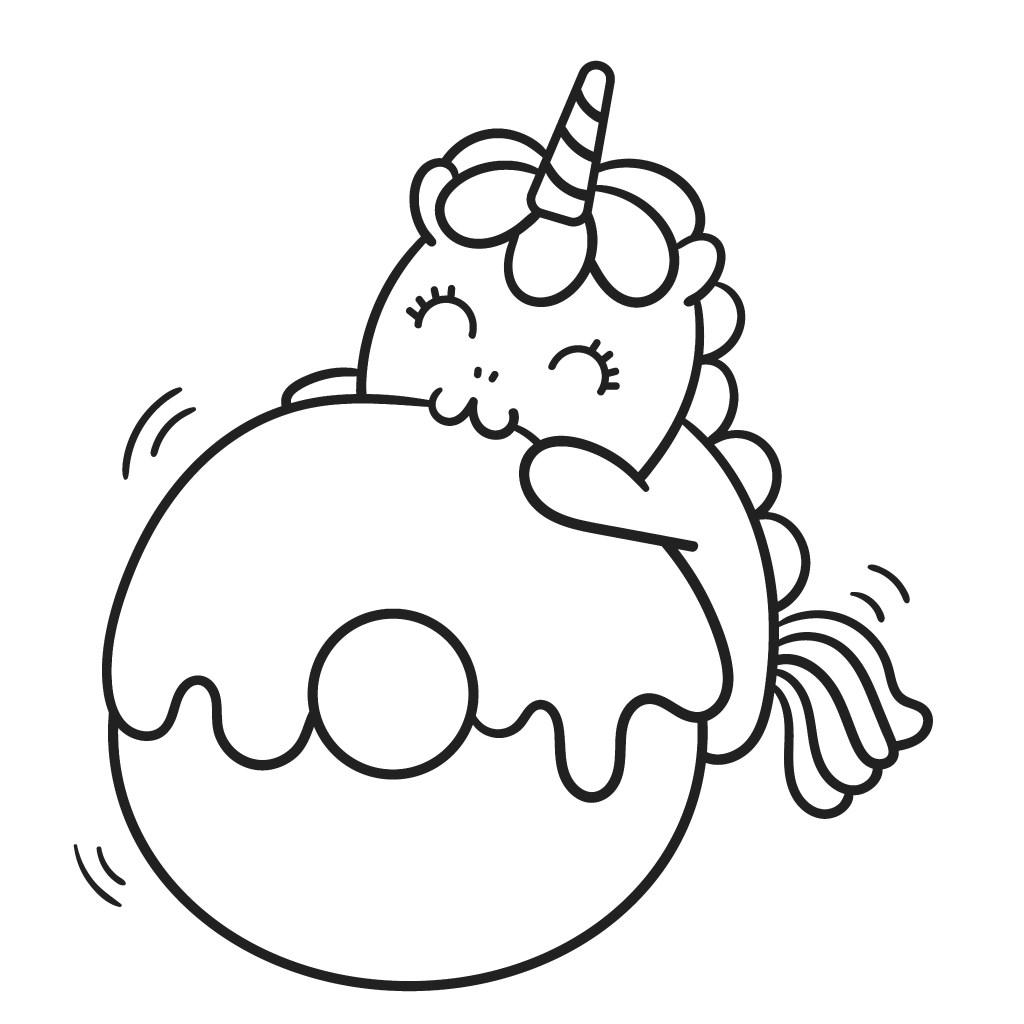 cute unicorn picture coloring book
