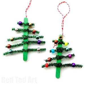 christmas crafts tree-ornaments-kids