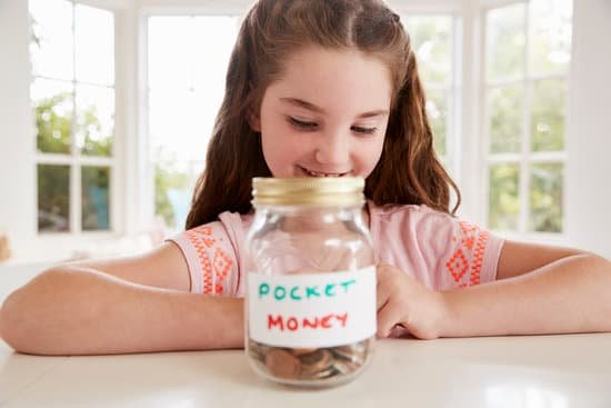 young girl with pocket money savings jar