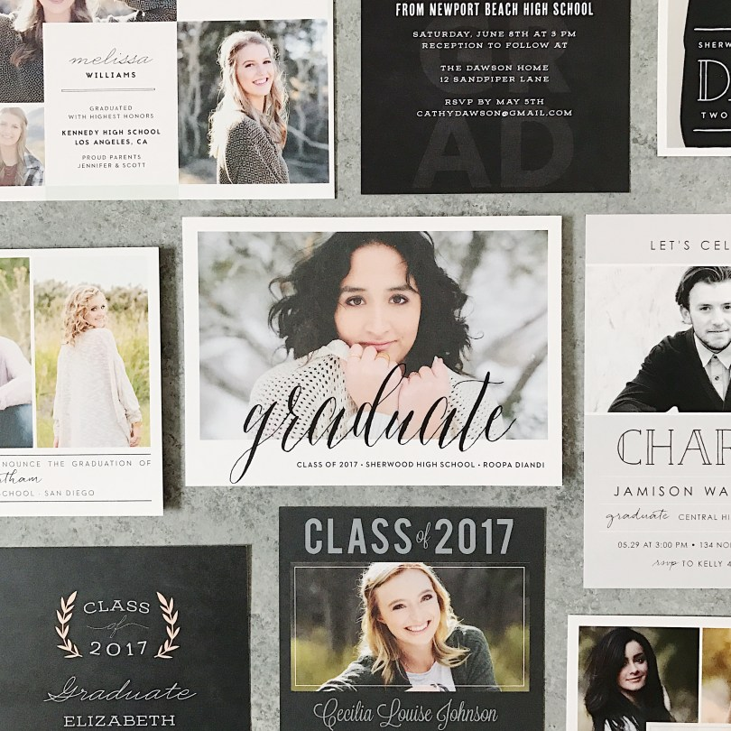 Basic Invite graduation announcements and party invitations