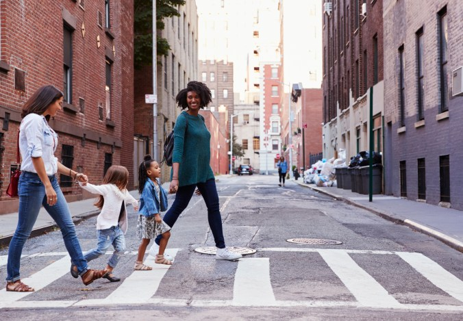 moms walking together thriving during the pandemic
