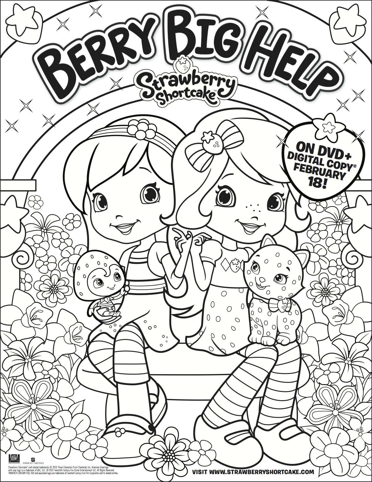 Strawberry Shortcake DVD and Strawberry Shortcake Coloring
