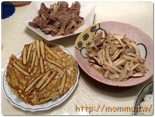 [P家廚房]金黃玉米筍+洋蔥炒百菇+鯛魚薑湯 1
