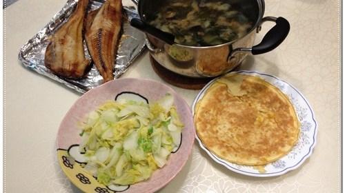 [P家廚房]花魚一夜干烤法+超簡單玉米烘蛋 1
