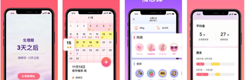 小月曆 - 女性日記,避孕,備孕助手 管理生理期app