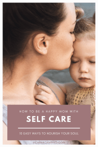 Motherhood calls us to lead busy lives but that does not give us a reason to not take care of ourselves. Become a happier mother by implementing these easy self-care tips! #selfcareformoms #selfcareforbusymoms #selfcaretips