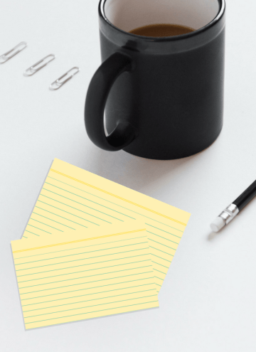 Organize Your Day With Index Cards