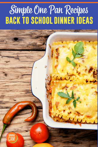 Simple One Pan Recipes for Back to School Dinners