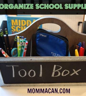 School Supplies tool box