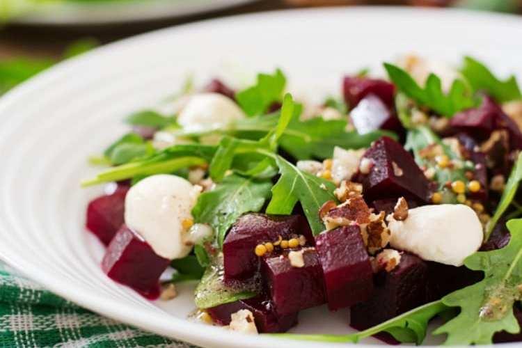 Beautiful Beet and Burrata Salad