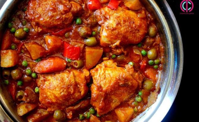 Chicken Afritada Spanish Style Chicken Stew Recipes