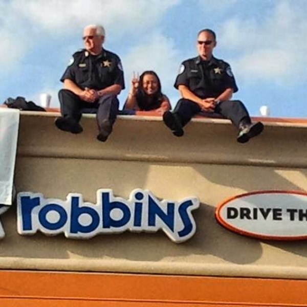 Dunkin Donuts Chicago39s Cop On A Rooftop for the Special