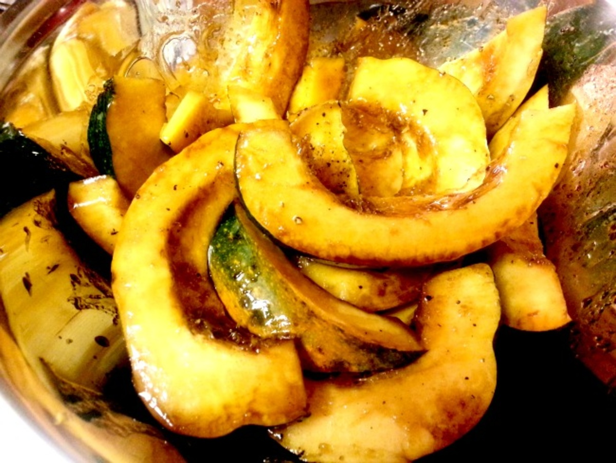 Honey Balsamic Roasted Acorn Squash Recipes