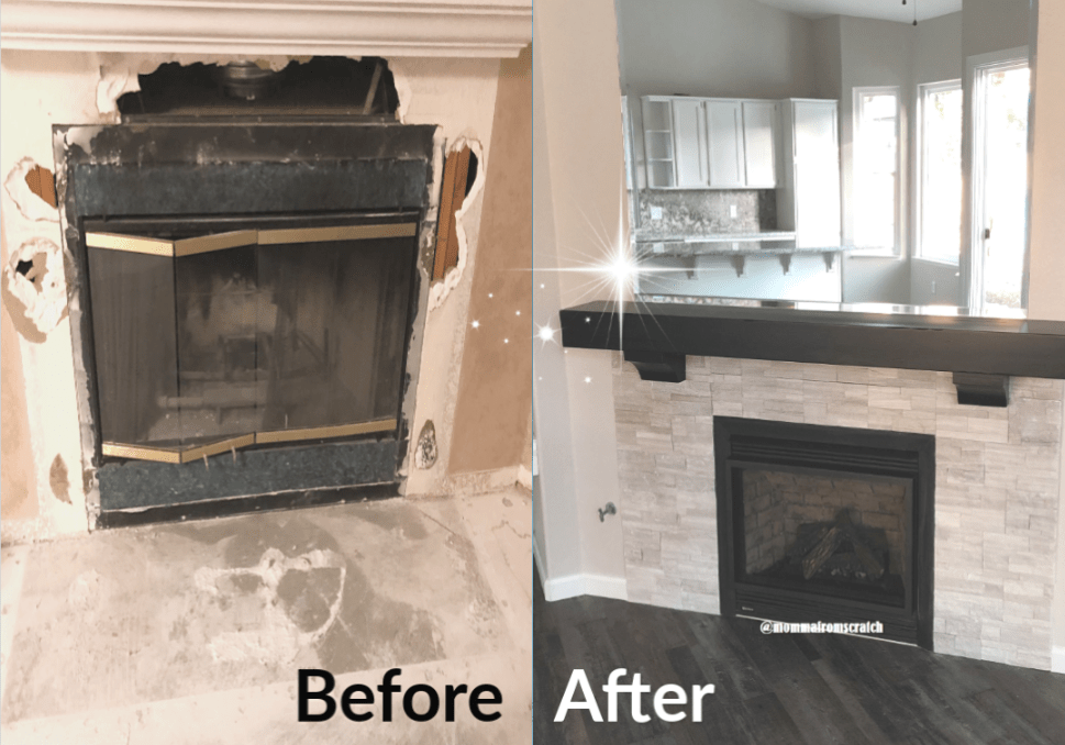 Modern Fireplace Makeover Momma From Scratch