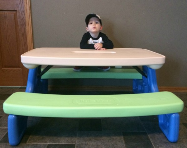 Little Tikes Easy Store Picnic Table #giveaway - Momma In