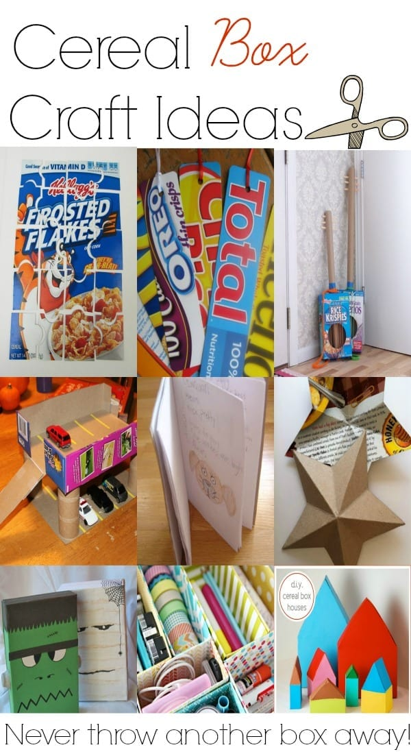 Easy Homemade Crafts Cereal Box Craft Ideas Mom Makes Dinner
