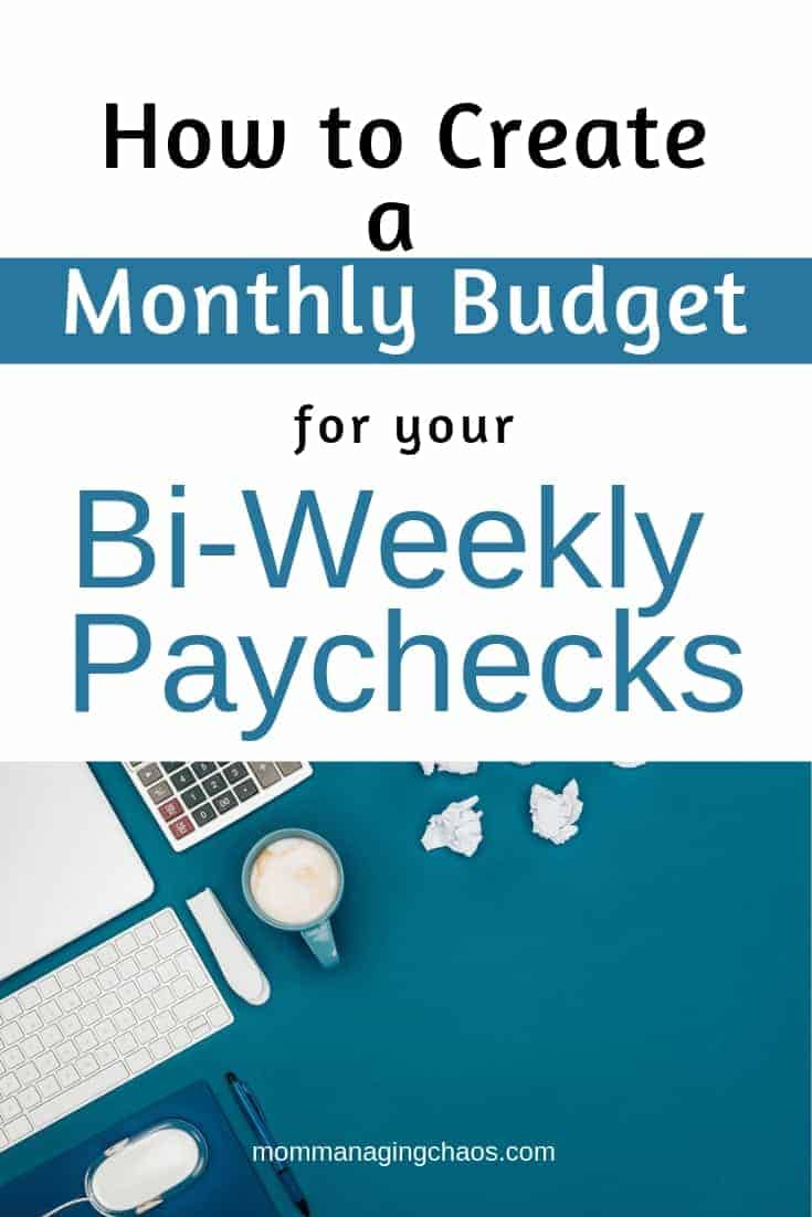 how to budget bi weekly paychecks on a monthly budget