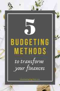 budgeting technique types