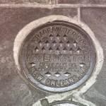 NOLA water meter manhole cover