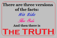 Three sides to every story