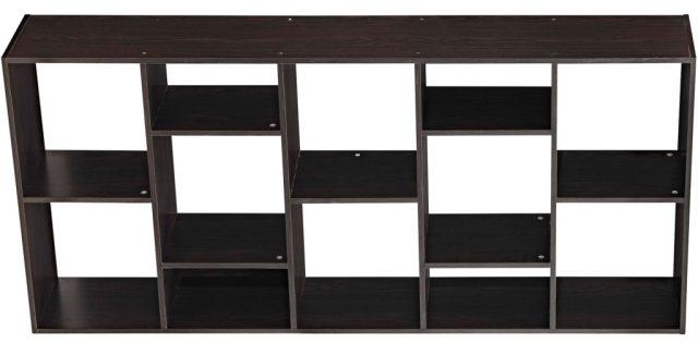 Open shelf on side